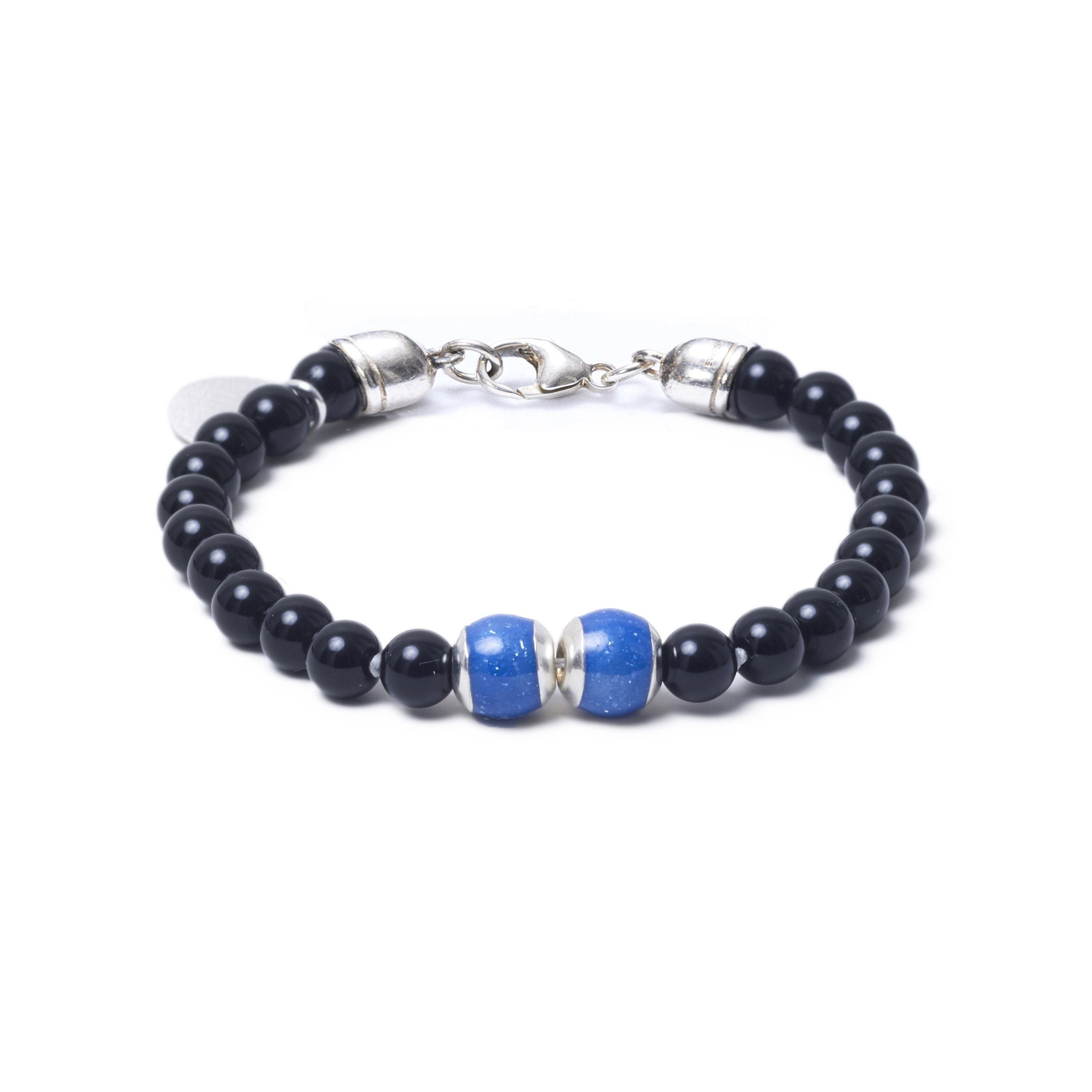 Onyx, Two Everence Beads everence.life Blue Lobster Claw 7