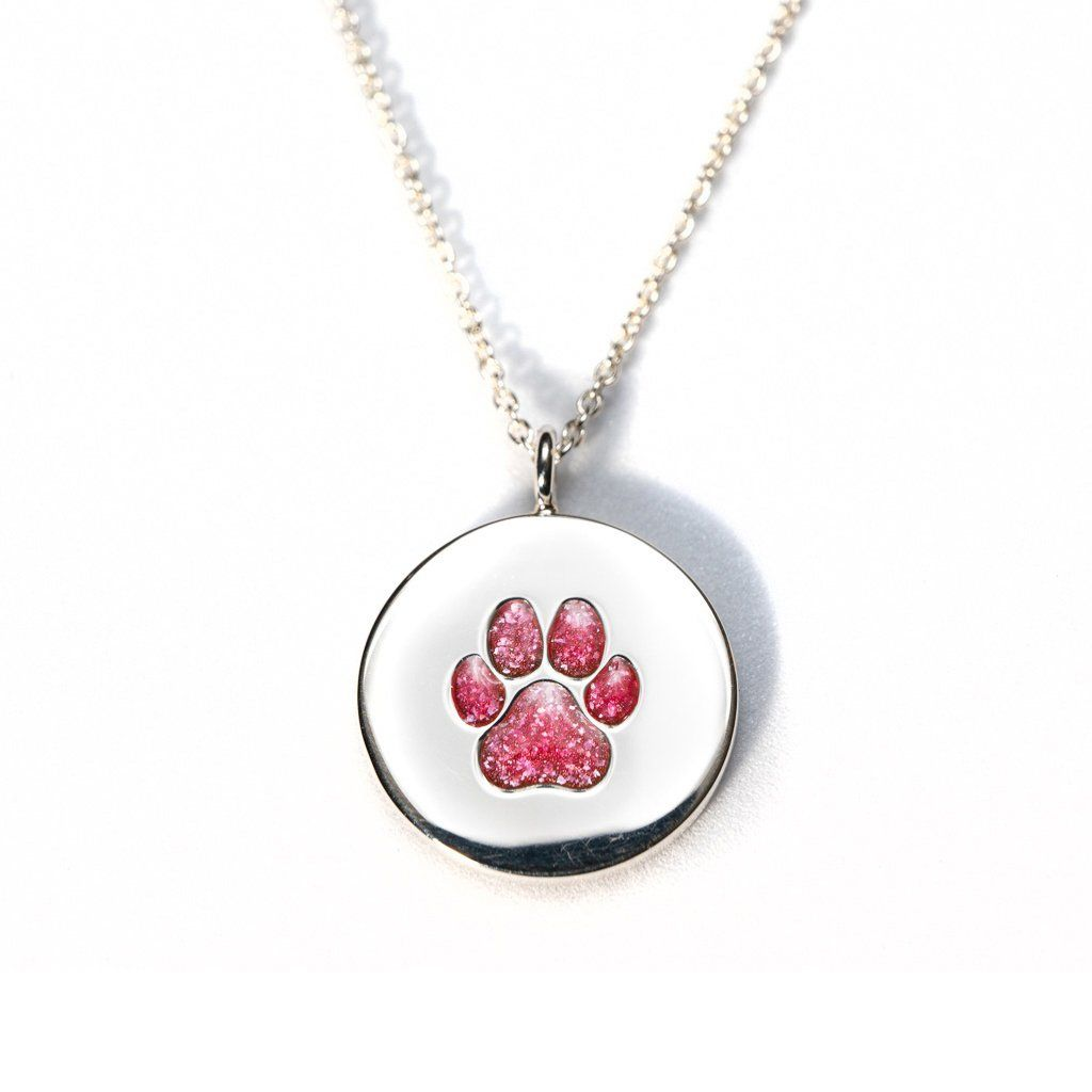 Sterling Silver Pawprint Pendant everence.life Scarlet