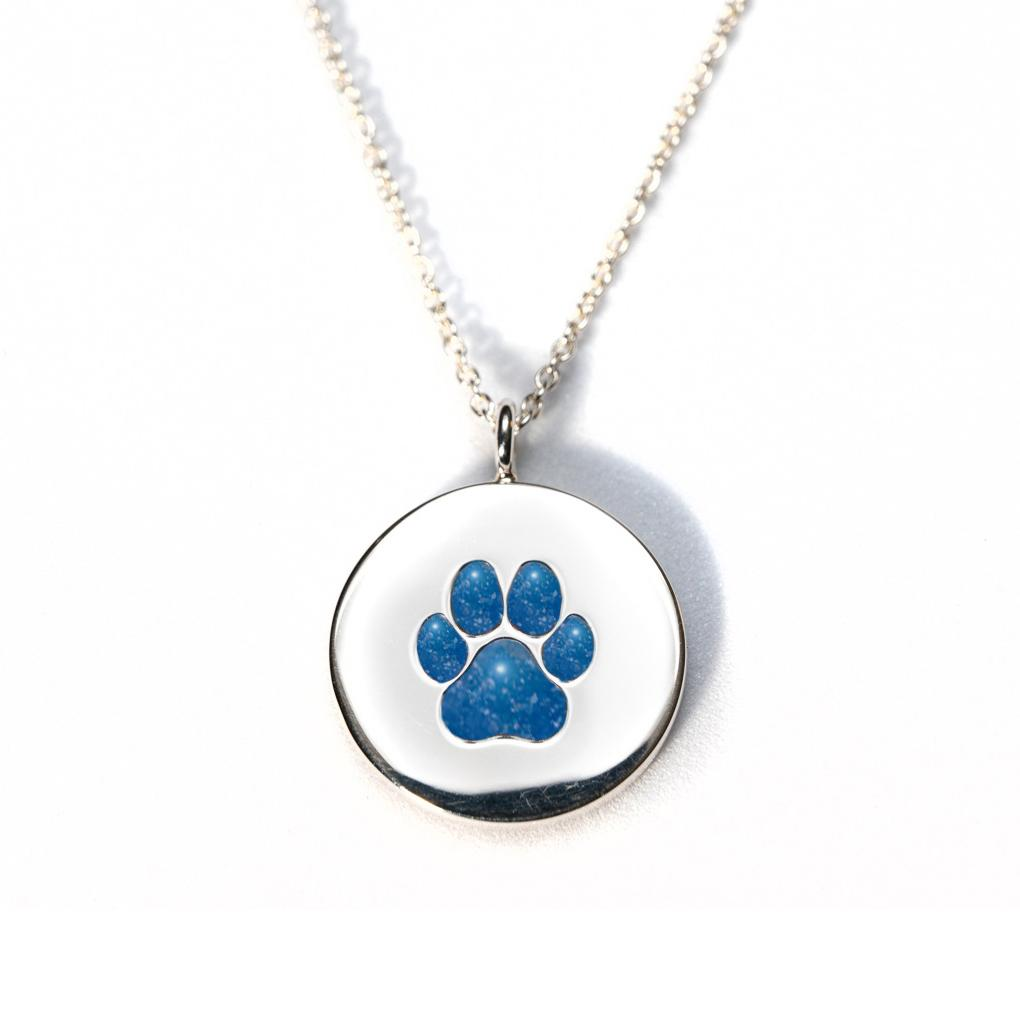 Sterling Silver Pawprint Pendant everence.life Sky
