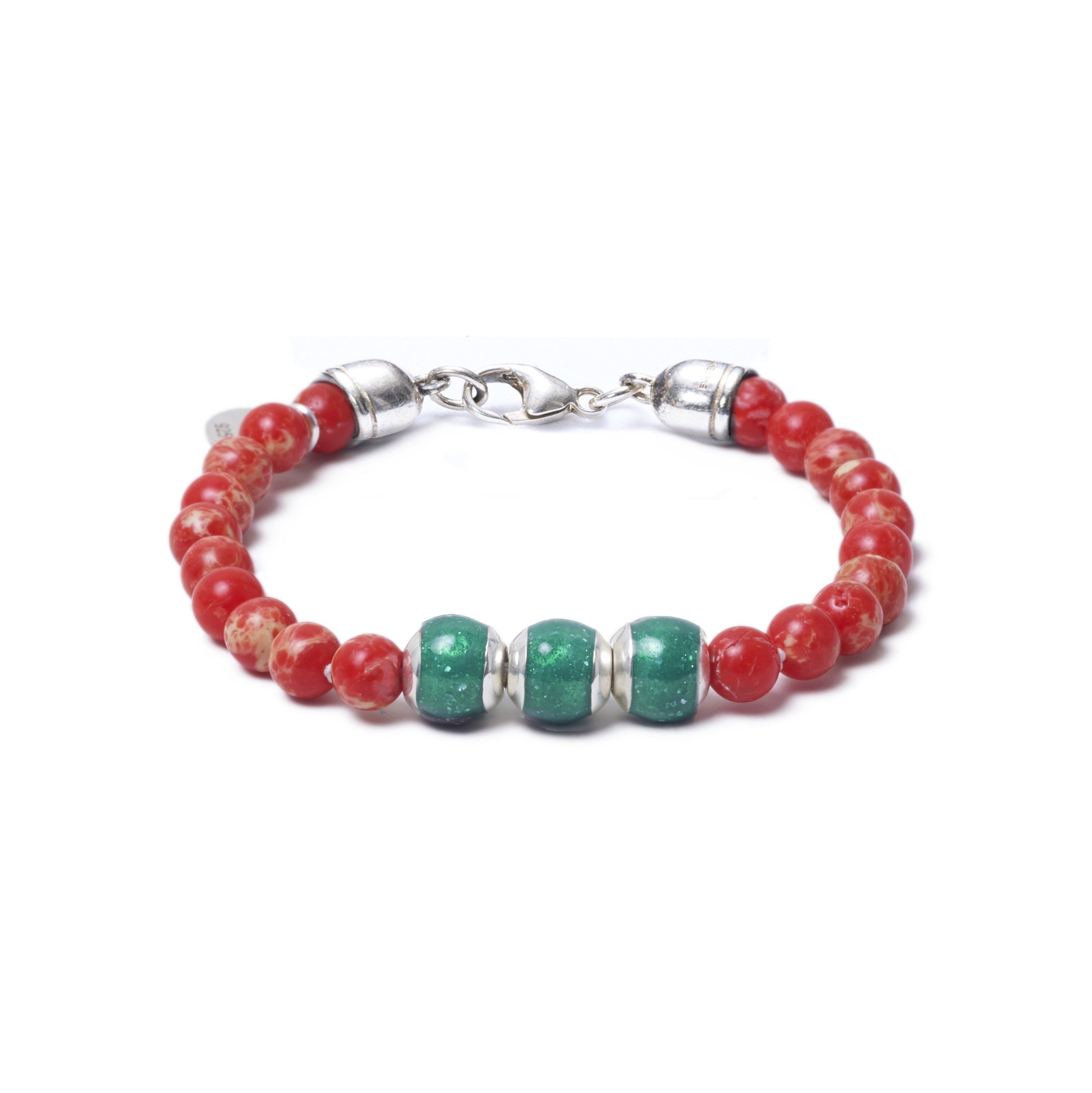 Red Sea Jasper, Three Everence Beads everence.life Green Lobster Claw 7