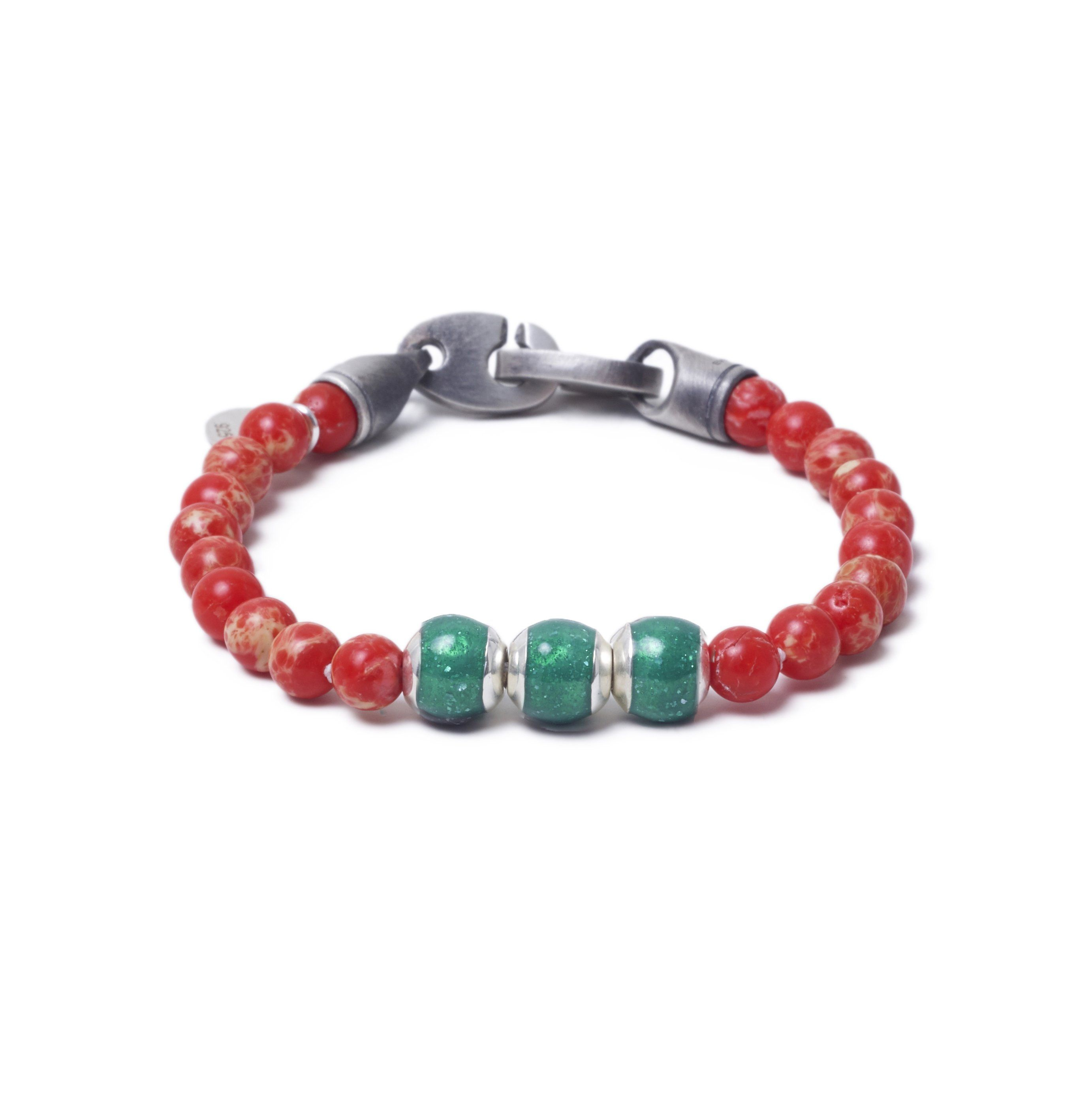 Red Sea Jasper, Three Everence Beads everence.life Green Brummel Hook 7
