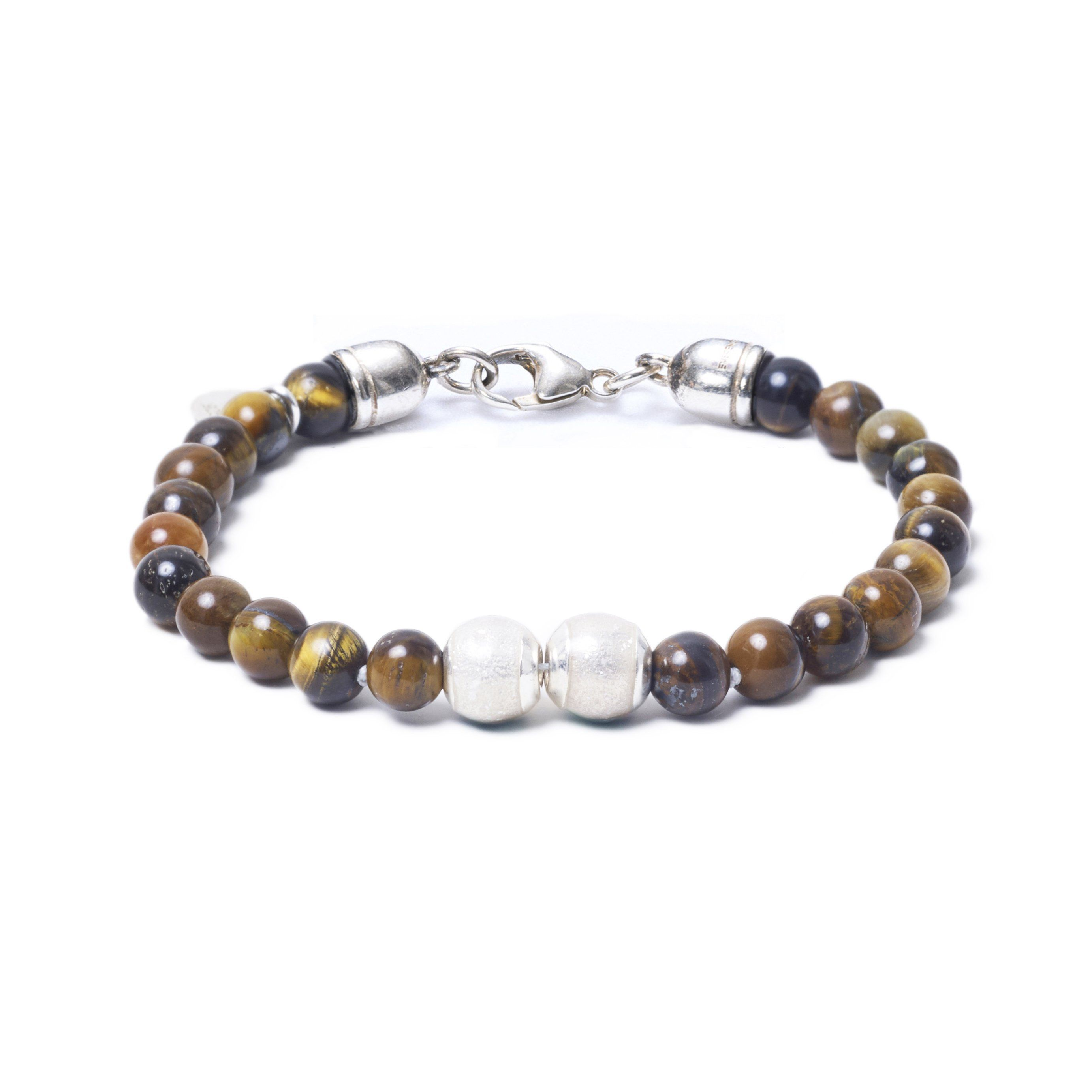 Tiger Eye, Two Everence Beads everence.life Clear Lobster Claw 7