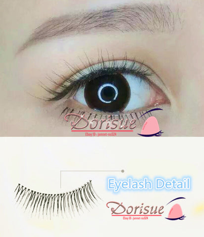 False Eyelashes Natural Long Eye Lashes Handmade Soft Thick Black Makeup (2 Pairs Set ) m9