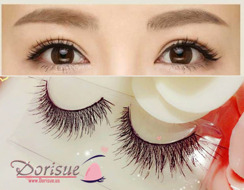 Flase Eyelashes (10 Pairs Set) Soft Long Mink Lash ExtensionsDouble Cross Cotton Line Natural Fake Eyelashes Handmade