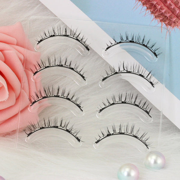 Dorisue Magnetic eyelashes natural look Short lashes Hight Quality face eyelashes Pack of 4 eyelashes pack E3 Magnetic lashes