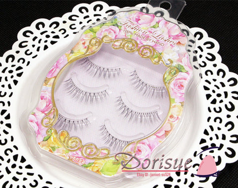 False Eyelashes (3 Pair Set) Like Real Short Natural Fake Eye Lashes Same Style Dollywink 09 Short style Natural Look Best Fake Lashes Extensions J3 …