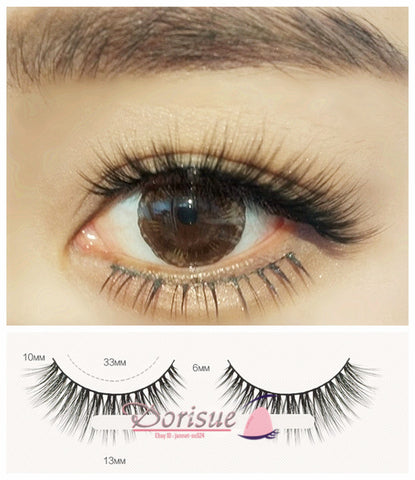 Dorisue Fake eyelashes 3D Mink eyelashes Long and Thick eyelashes wispies False Eyelashes Short Handmade lashes Hight Quality face eyelashes Pack of 3 eyelashes pack J1