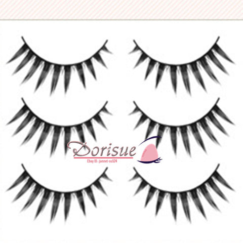 False Eyelashes (3 Pairs Set) Women 3D Mink Natural Curling Thick False Fake Eyelashes Makeup Extensions
