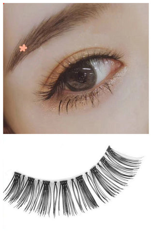 Dorisue False lash Medium Volume Flare lashes Handmade Natural lash look R1