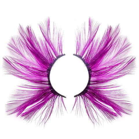 Dorisue Purple lashes Huge lashes Dramatic Halloween lashes Costume eyelashes p25