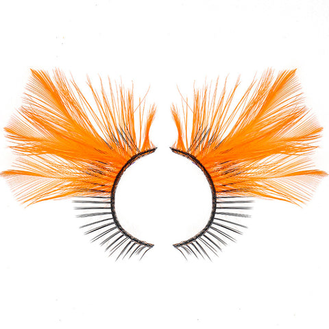 Dorisue Halloween lashes Pumpkin Orange colored eyelashes eyelashes extensions cosplay eyelashes halloween fake eyelashes p26