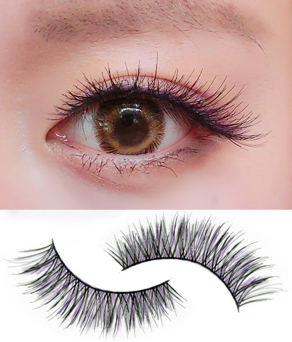 Dorisue Color lashes Purple lashes with black lashes extensions Demi Wispy fabulous falsies 5 pairs lashes pack