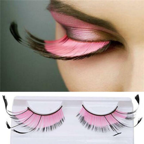 Dorisue Halloween Eyelashes Light Pink for eyelash extensions Goth Princess Pink Lash Kit Cosplay barbie doll Feather Lashes