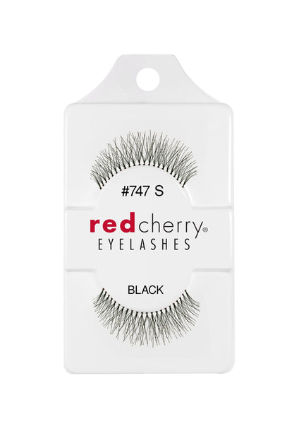 Red Cherry 100% Human Hair #747S Short False Eyelashes Natural with flawless stealth (Pack of 6 Pairs)false eyelash extension