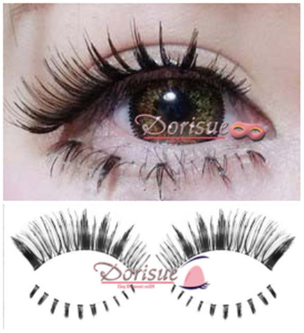 Dorisue Fake eyelashes Mix Value multipack Dramatic Upper 3P lashes and 2P Bottom lashes (5 pairs eyelashes combo )