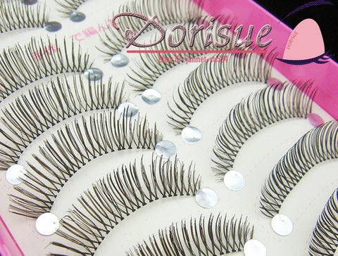 False Eyelashes (10 Pairs Set) Natural Daily Black and Short False Eyelashes Charming Eye Lashes Makeup R7