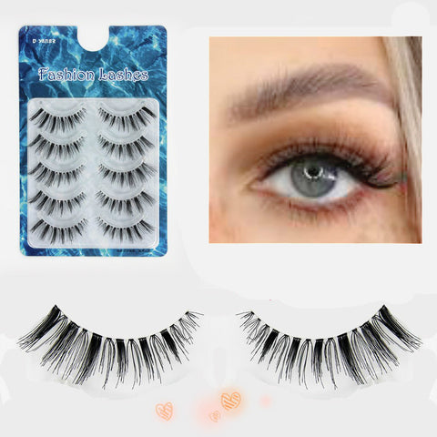 Dorisue 3D Natural-looking lashes for everyday glamour eyelashes Glossy and feathery false eyelashes 5 pairs lashes pack