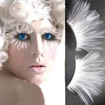 Dorisue White halloween lashes Peacock feather eyelashes The White Queen Dramatic eyelashes