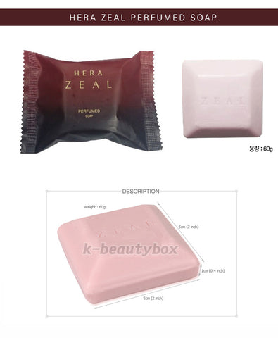 Hera New Zeal Organic Perfumed Soap Cleanser Floral Musk Scent 60g X 2ea 韓國赫拉HERA ZEAL 香水香皂 香水肥皂