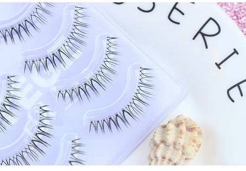 Dorisue Fake eyelashes Natural eyelashes Look Real 3D Light Weight short mink lashess wispies False Eyelashes Short Handmade lashes Hight Quality face eyelashes Pack of 4 eyelashes pack