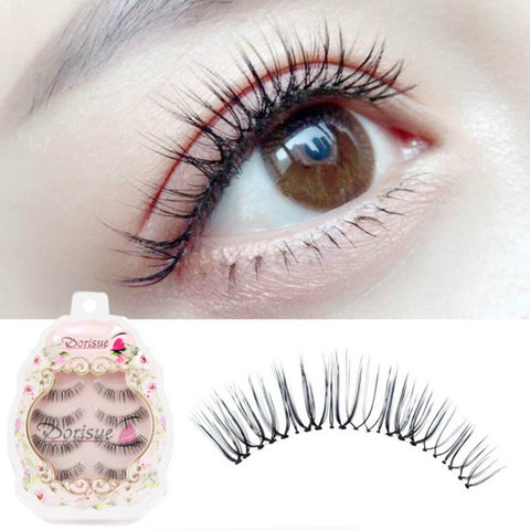 Dorisue E2 Short natural eyelashes false eyelashes natural wispy lashes 4 eyelashes pack lashes pack