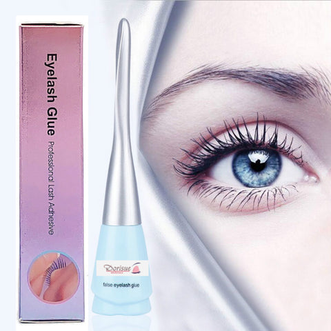 Dorisue Pro Strong Hold Water-Proof False Eyelashes Glue Hypoallergenic Adhesive Best Glue for Sensitive eyes Long-Lasting Lash Glue Clear (Clear)