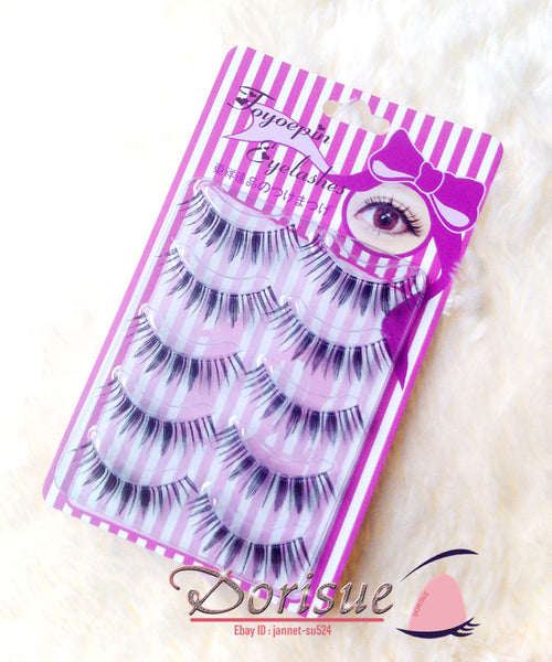 Dorisue False Eyelashes Amazing Multipack Medium Long Natural eyelashes 5 Pairs Lashes Pack G2