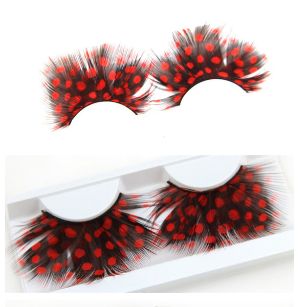Dorisue Anime lashes Red lashes Sexy Lip dramatic cosplay Shiny Long and Thick False Eyelashes Extension for Women Girls Cosplay Costume lashes Mermaid Party eyelashes