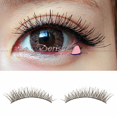 Dorisue False Eyelashes Eyelashes Natural  Daily Use Super Natural Cross Lashes Black Cotton band 10 Pairs Lashes Pack