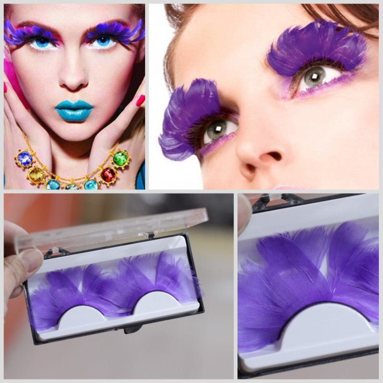 P8 Feathered Eyelashes For Christmas Party Cosplay Costume Dramatic