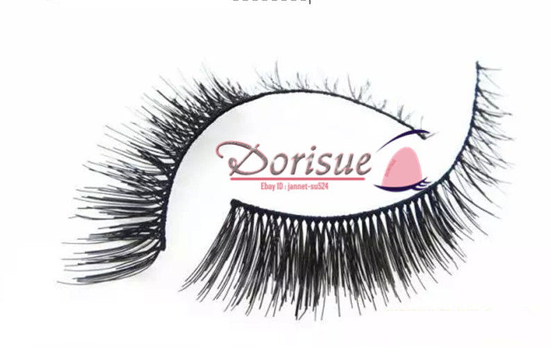 089664aab08 False Eyelashes (10 Pairs Set) Cross clusters in the end Short Fake eyelash  False