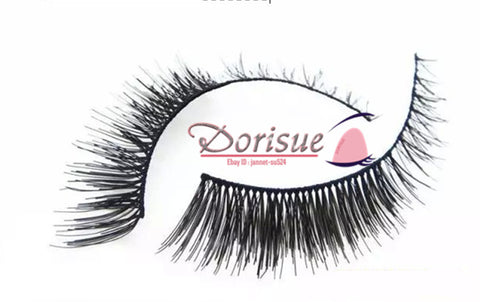 33582bb654b False Eyelashes (10 Pairs Set) Cross clusters in the end Short Fake eyelash  False