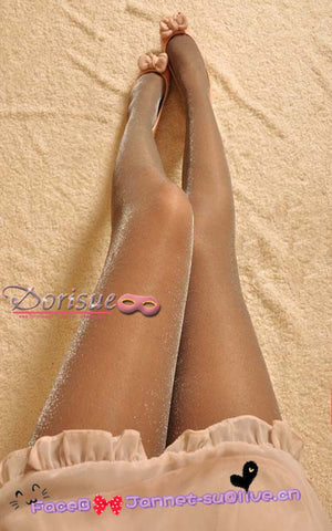 A11 HOT Sexy Silvery pearl Stockin Fashion party Woman socks silk stay up Blink