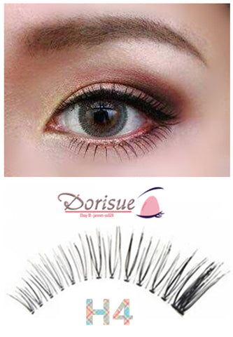 Dorisue Flared Natural Lashes Extension Add touch Eyelashes Look 5 Pairs lashes H4