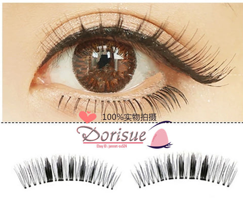 False Eyelashes (10 Pairs Set) Natural Doll Eye Make up Fake Eyelashes Middle Long Style Lashes