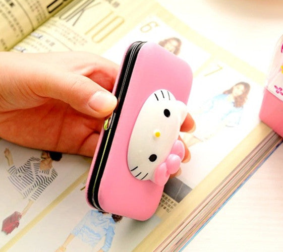 7 PCS Kitty Collection Pedicure / Manicure Set Nail Clippers Cleaner Cuticle Grooming Kit Case