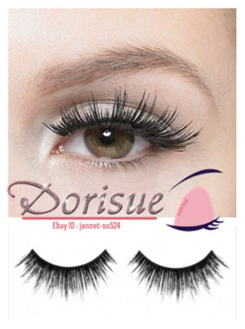 Dorisue Dramatic lashes Extra Long False Eyelashes celebrity fullest lashes gorgeous Doll Beauty lashes super full fluffy falsies 10 pairs lashes Pack