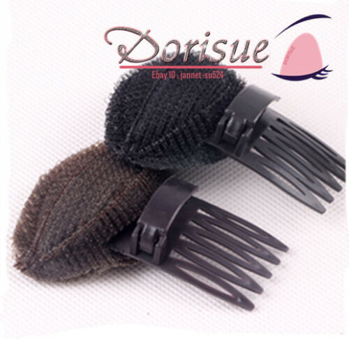 Bang Hair Lift Volume Styling Making Tool Bump Up Insert Tool Hair Comb 2 pc Black and Brown