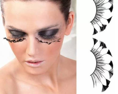 Dorisue Halloween eyelashes Spider eyelashes Firework Feather eyelashes Custom Cosplay Dramatic Extra Long lashes for Party