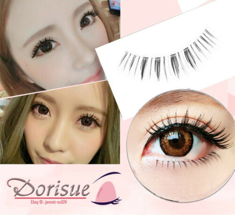 Dorisue False Eyelashes Combo Lash Beginner Eyelash Set with Top upper Lashes and bottom lower lashes (2 Pairs Set )