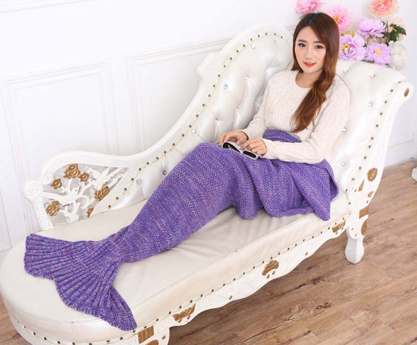 Knitted Mermaid Tail Blanket - Outdoorly