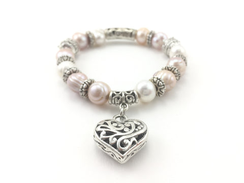 Freshwater Pearl Stretch Bracelet - Pick a Color