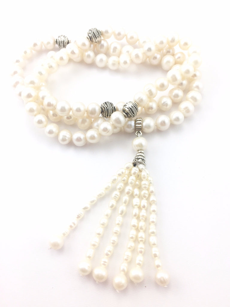 Freshwater Pearl Mala Necklace