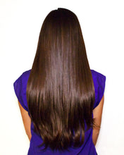 "clip in hair extensions #2 dark mocha brown 20"" 130g Sandimez Hair clip in hair extensions"