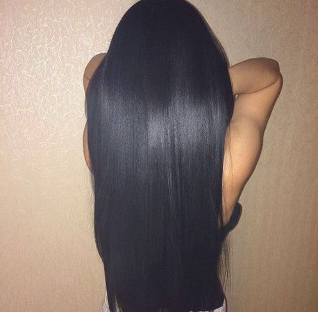 100 Remy Human Hair Clip In Extensions 1b Natural Off Black 20