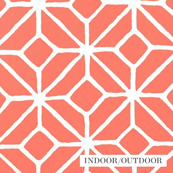 Schumacher Fabric 174232 Trellis Print Watermelon - Inside Stores