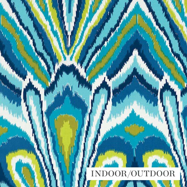 Schumacher Fabric 174280 Peacock Print Pool - Inside Stores