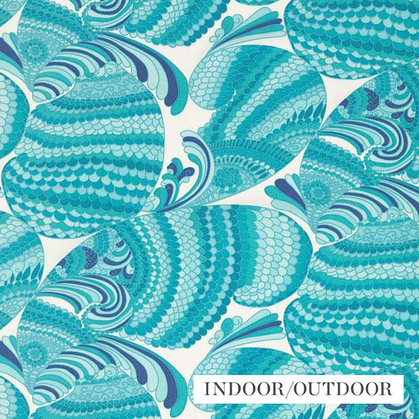 Schumacher Fabric 174330 Pisces Print Pool - Inside Stores