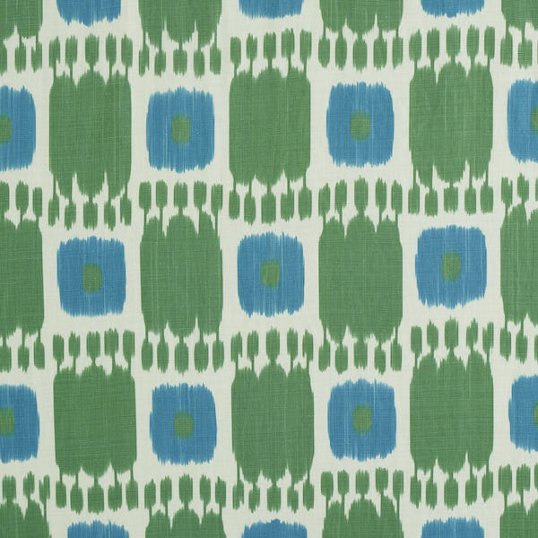 Schumacher Fabric 174405 Kandira Peacock
