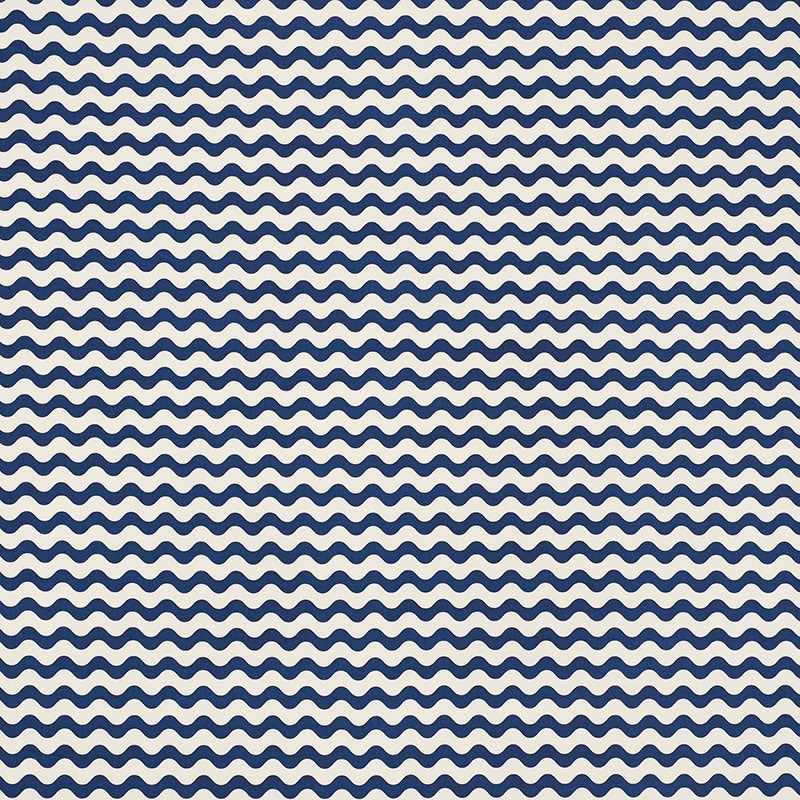 Schumacher Fabric 176623 Ric Rac II Navy